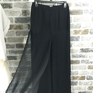 Ronnie Nicole black wide leg pants,sz M